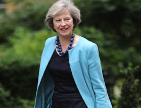 Theresa May Blue Coat