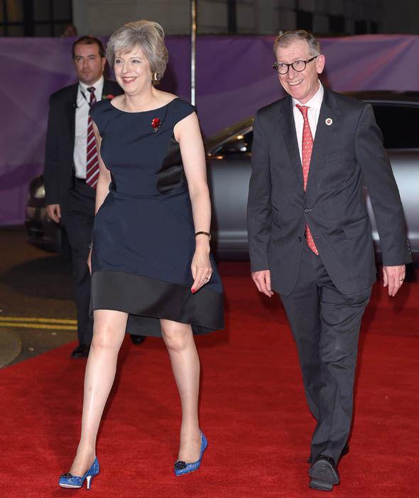 Theresa May with husband Philip