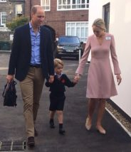 Price George arrives at school