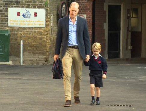 Prince George going to School with William