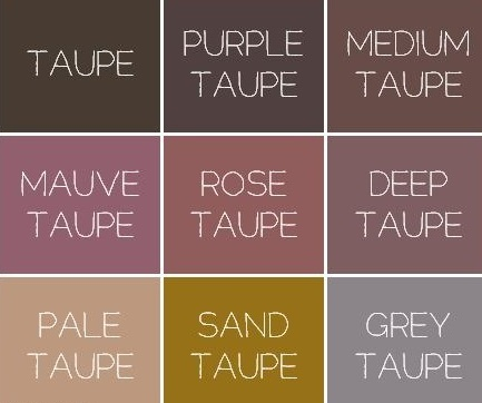 Taupe colours