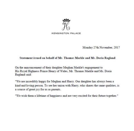 Kensington Palace Announcement