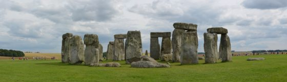 Stonehenge with visitors