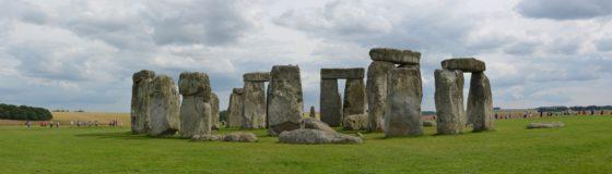 Stonehenge with visitors
