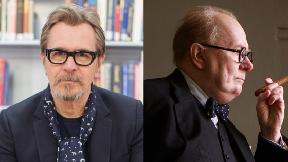 Gary Oldman to Winston Churchill Transformation