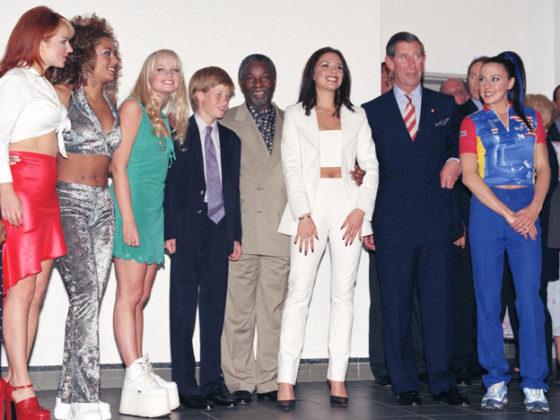 スパイス・ガールズとチャールズ皇太子、ハリー王子 1997(Source: Getty Images)
