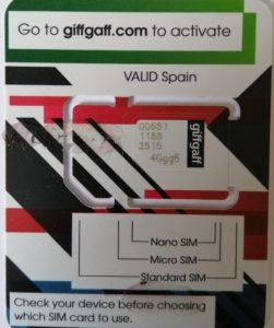 Giffgaff SIM Size